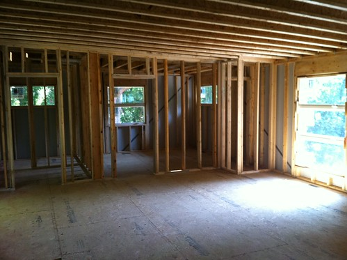 DeBord Residence Guest Room and Bathroom Framing