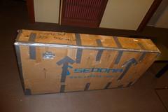 My bike boxed up