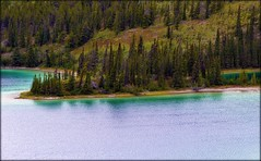 Klondike Highway - Emerald Lake - Landscape (blmiers2) Tags: travel mountain lake mountains nature alaska landscape nikon highway yukon klondike d3100 blm18 blmiers2
