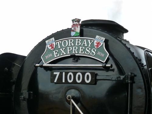 Steam Loco - Duke of Gloucester, headboard for Torbay Express