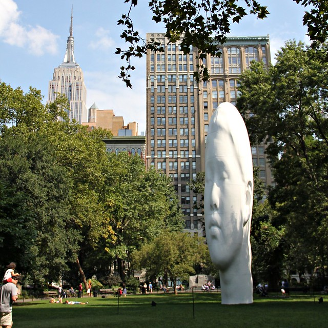 the head in madison square park