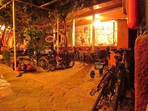 All of the bicycles at the hotel in Samarkand.