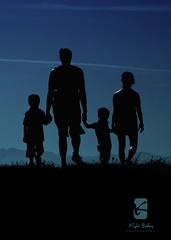 This is what matters (Kyle Bailey - Da Big Cheeze) Tags: family love silhouette kids walking parents holdinghands ionabeach kylebailey dabigcheeze