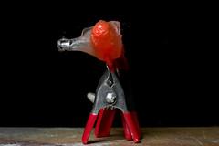 ksplat 2 of 2 (Mark Watson (kalimistuk)) Tags: make lumix 22 shoot shot destruction flash fast rubber spray panasonic freeze impact g1 pike bang lead explode dmc lure highspeed expansion exploding destruct fragments froze 1445mm 22cal