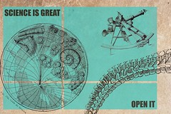Science is great, open it (open science) (mclapics) Tags: science olddesign openscience