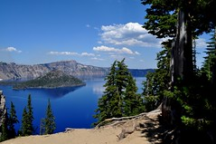 Worlds clearest water, Crater Lake in Oregon, USA (Sruthis Photography) Tags: world blue sky lake mountains water clouds oregon forest scott island volcano wizard falls clear mount national crater shasta seventh volcanic 7th wonders pinnacles klamath the deepest