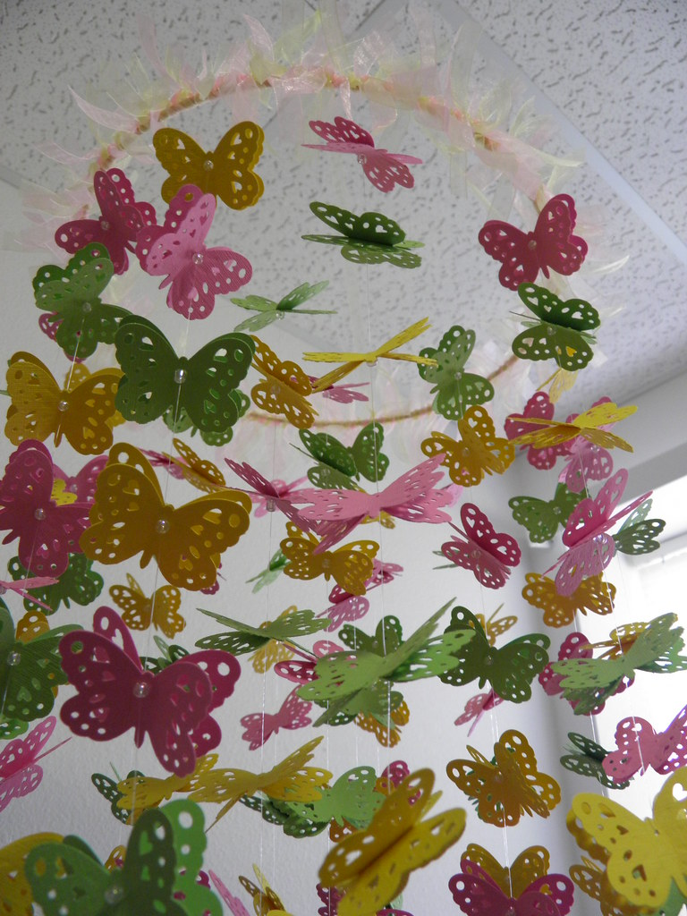 Butterfly Baby Paper Mobile - Colorful