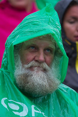 The Rain Santa @ Rob Watkins 2011 (Aland Rob) Tags: santa old white man beach rain sport finland beard macintosh mac long open serious coat crowd plastic huge volleyball staring raincoat gazing aland paf mariehamn land tomten