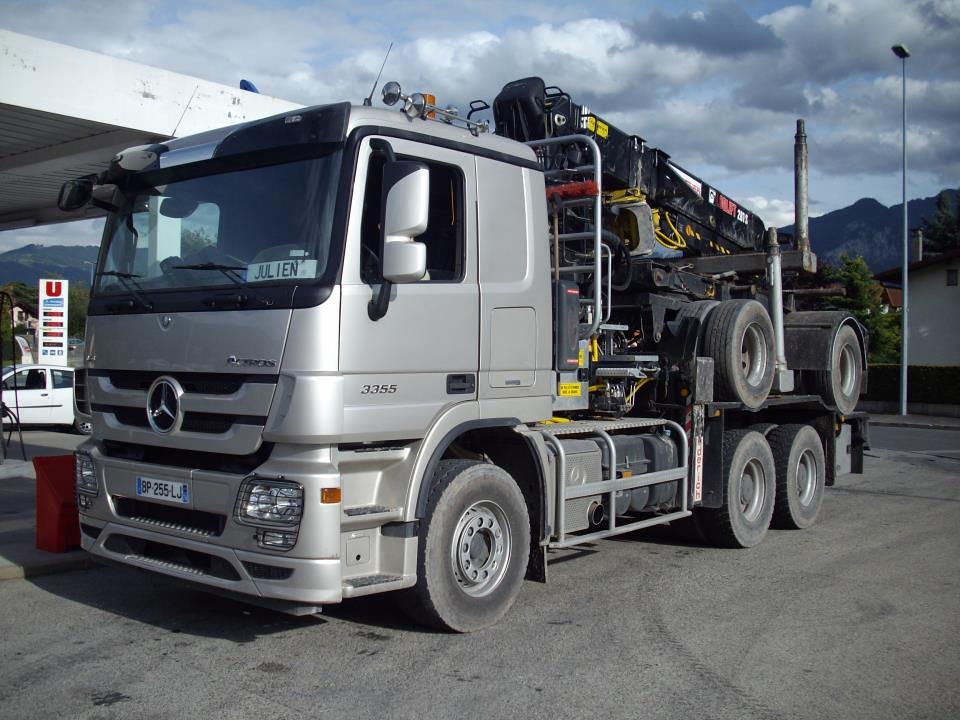 3355 6X4 TRANSPORT DE GRUMES (hayes69) Tags truck mercedes lorry bois  ~ Transport Grumes Bois