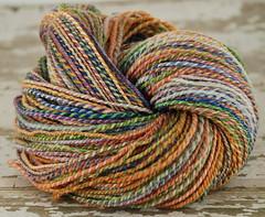 OOAK 2ply sw merino handspun yarn