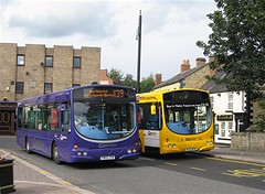 Go North East 4991 (YR02ZYM) & 4965 (NL52WVW) (peter_b2008) Tags: buses solar transport wright metrolink coaches scania houghtonlespring gonortheast 4965 4991 buspictures gonorthern goaheadgroup l94ub yr02zym nl52wvw