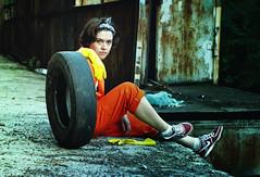 misfits inspired3 (Borgonovo) Tags: urban orange colour girl industrial cosplay inspired misfits jumpsuit
