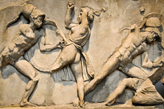 Greek Parthenon Pediment Sculptures at The British Museum London England (mbell1975) Tags: england sculpture london art statue museum greek temple europe gallery museu eu musée musee m parthenon gb british museo sculptures pediment muzeum antiquities the müze museumuseum