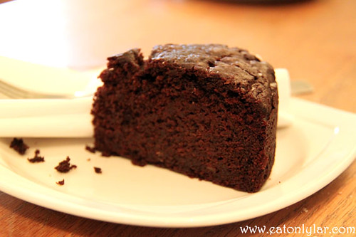 Chocolate and beetroot cake, Waterloo Gardens Teahouse