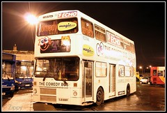 The Comedy Bus (Zippy's Revenge) Tags: liverpool garage depot metrobus merseyside londontransport londonbuses mcw comedyfestival capitalofculture cityfm liverpoolecho radiocity967 liverpool08 gillmoss ojd808y m808 stagecoachmerseyside nonpsv magic1548 thecomedybus
