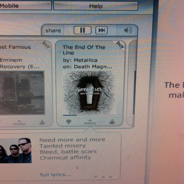 Project 365 252/365: If I gotta work, at least Metallica is on Pandora.