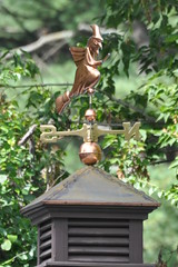 Wicked Witch of the East (dlv1) Tags: weather nikon wind witch direction ornament cupola copper weathervane vane penacook d90