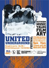Ctrl.Alt.Shift United Underground - Flyer Front (fourteenten) Tags: southbankcentre ctrlaltshift unitedunderground