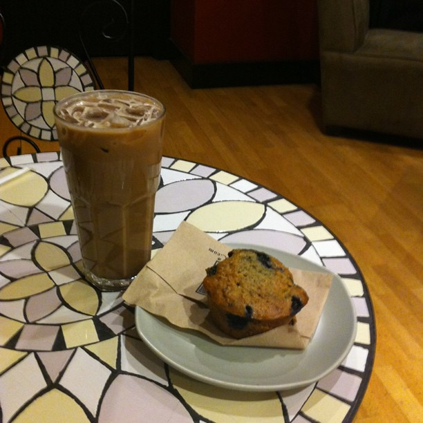"Massive ""Wired"" Iced Mocha & Blueberry Oatmeal $8.65"