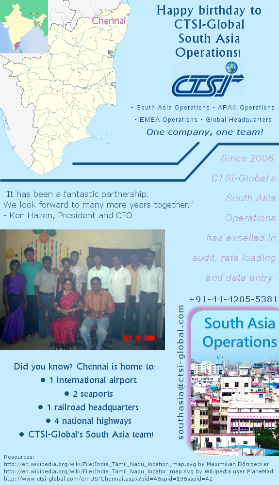 Happy 5th birthday, CTSI-Global South Asia Operations!