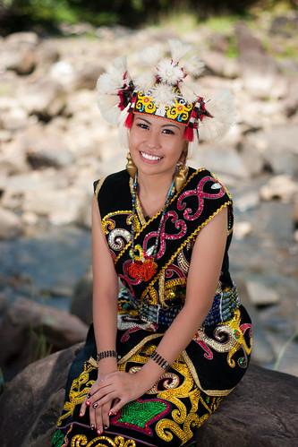 Nana in Orang Ulu Costume by Joshua Aquinas Ding