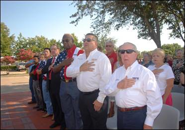 Patriotic Salutes to Honor the Victims of 9/11 Drew Hundreds of Supporters
