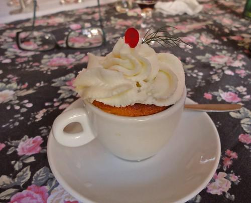 CupCake de abóbora com ganache de chocolate branco