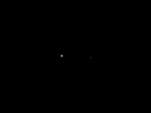Earth and the Moon as viewed by NASA's Juno spacecraft