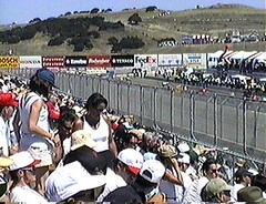 VHS Laguna Seca 1998 JPG 02 (CanadaGood) Tags: california ca people usa white color colour analog america person indy 1998 autoracing cart nineties lagunaseca carracing carrace canadagood vhstapecapture