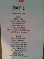 Day 1 Line up