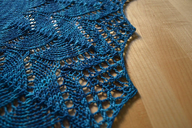 traveling woman scarf in madelinetosh sock :: baltic