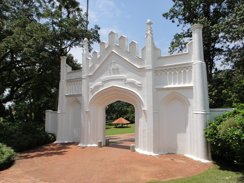 Gothic Gate entrance to Fort Canning Park, Singapore