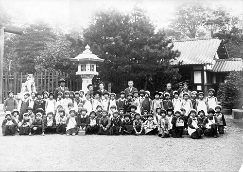 Girl's School Group Photo - Year Unknown by Mustang Koji