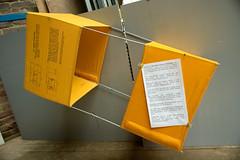 """Cerf-volant """"Gibson Girl"""" (zigazou76) Tags: kite jaune moulin chs armée cerfvolant expotec saintgilles gibsongirl bendix journéesdupatrimoine m357 équipement survie"""