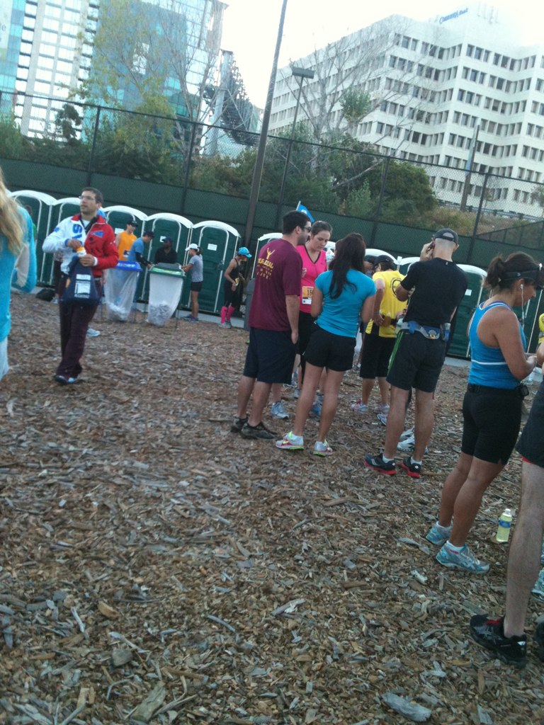 Love the porta-potty line before the start.  NOT.