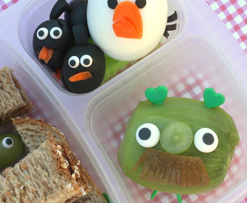angry birds lunch bento