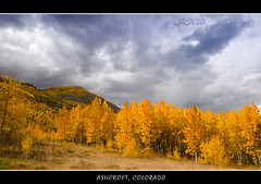 A Storm Is Brewing ... (karthikv4u) Tags: mountain storm fall colors clouds bells gold us colorado maroon hill aspen ashcroft