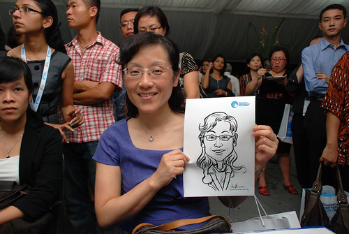 caricature live sketching for Singapore International Water Week Closing Dinner - 17