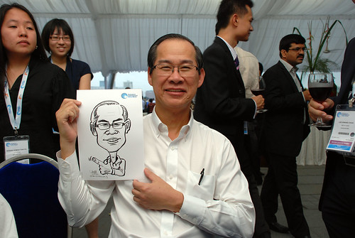 caricature live sketching for Singapore International Water Week Closing Dinner - 2