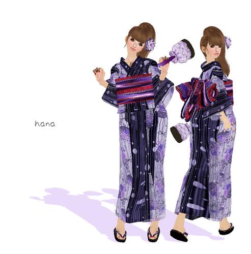 ~*Hiyori*~YUKATA_purple (2011.8)