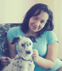 """""""Los perros no son todo en nuestra vida, pero ellos la hacen completa"""" ({ngeis.ir}) Tags: dog love me self 50mm amor yo 18 lucero perra"""