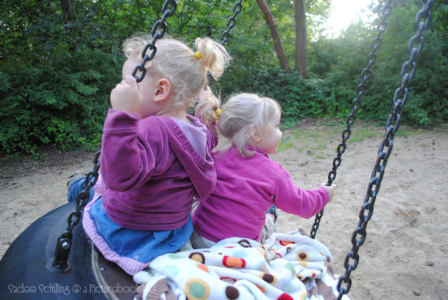Ponytail Girls on Swing
