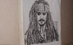 Jack Sparrow (palaabrasusadas...) Tags: film pencil jack drawing pirates deep sparrow johnny dibujo piratas personaje caribe lpiz pelcula personage portaminas