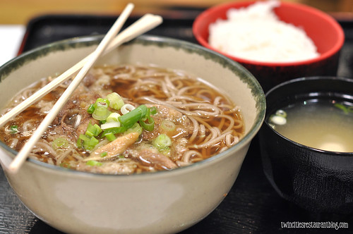 Beef with Soba Noodles at Mitsuwa Japanese Marketplace ~ Arlighton Heights, IL