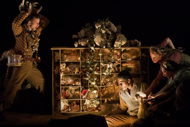 Stuart Angell as Gluck, Femi Oyewole as Johnny, Laura Cubitt and Avye Leventis as Anak in Faeries  © ROH / Johan Persson 2011