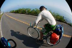 Biking on the Shakotan Peninsula, Hokkaido, Japan