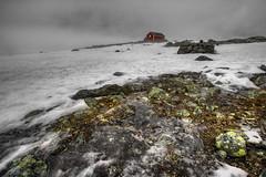 black ice (Mariusz Petelicki) Tags: snow ice norway norge hytta hdr śnieg lód domek norwegia chatka