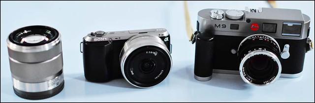 Sony NEX-C3 18-55mm 16mm f/2.8 Leica M9 Zeiss 50mm f/2 T* Planar