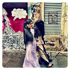 Multicultural londoners (Alvaro Arregui) Tags: pictures street uk greatbritain urban stencils london art girl mobile lens riot gente crossprocess stickers hijab movil arabic filter fotos arabe falcon londres mobilephone urbano niqab bricklane alvaro freeman burqa iphone burka arabicgirls  iphonography alvarofreeman iphoneography hisptamatic
