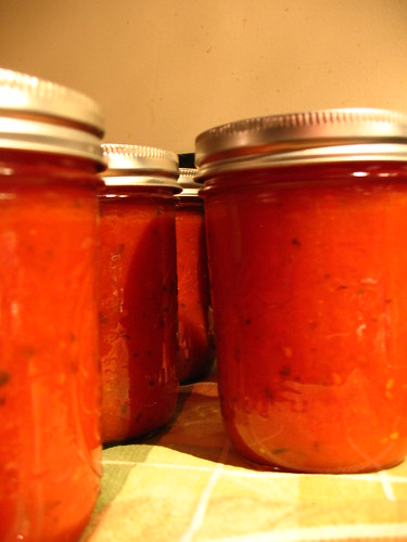 Tomato heaven: canned spaghetti sauce